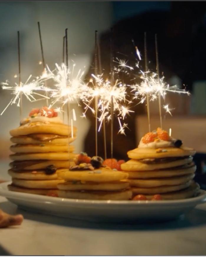 sparklers in cake