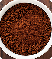 Instant coffee in a bowl