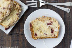 Streusel cranberry orange bread