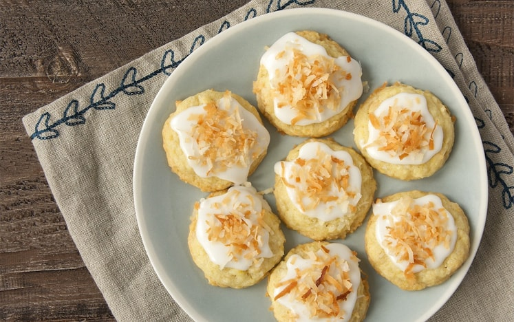 Toasted coconut white chocolate cookies
